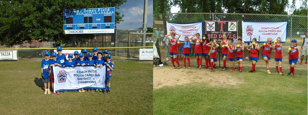 Trenholm Little Red Devils - 2017 District & State CPSB Champions & Trenholm Blue - 2017 District 3 CPSB Champions
