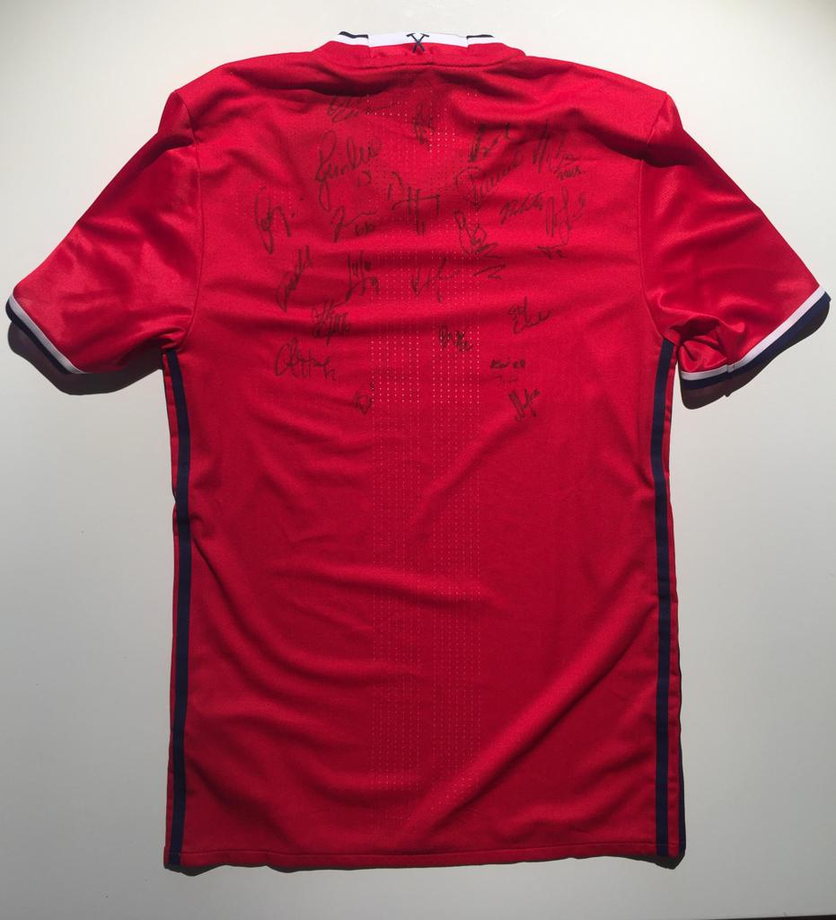 b2697df98 CHICAGO FIRE SOCCER CLUB AUTOGRAPHED 2017 JERSEY- 2 AVAILABLE