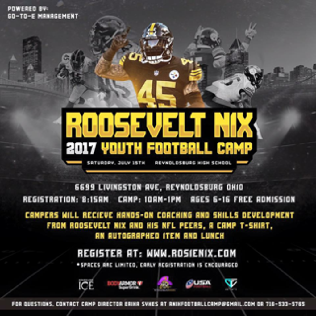 62dc8622 Roosevelt Nix 2017 Youth Football Camp
