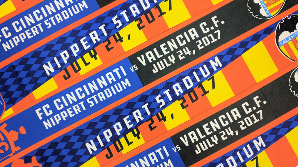 c56a34e38d FCC and Valencia have collaborated to produce a limited-edition split  scarf