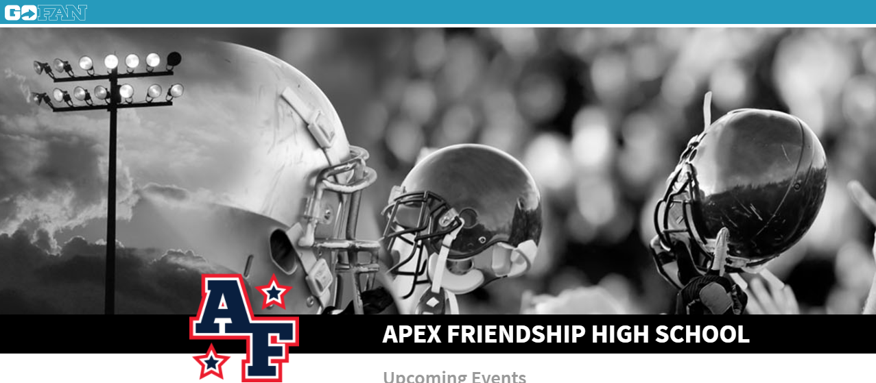 Click the image to purchase your Apex Friendship Football Tickets