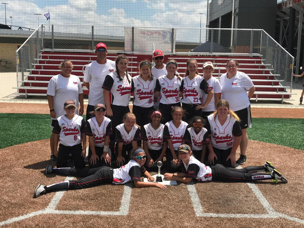 Sparks 12U placed third at the PGF Midwest Regional Championship