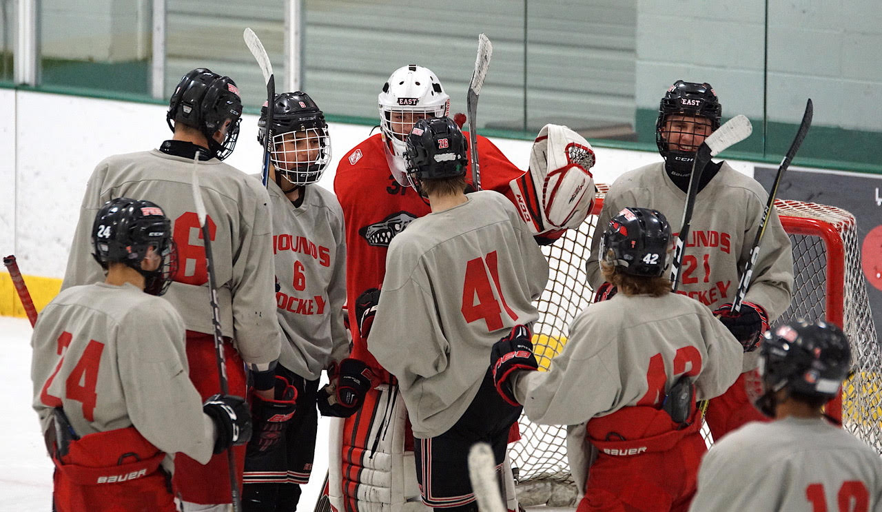 Duluth East claimed the Summer Festival title with a 5-2 win over Eastview at Braemar Arena. Credit: Peter Odney.