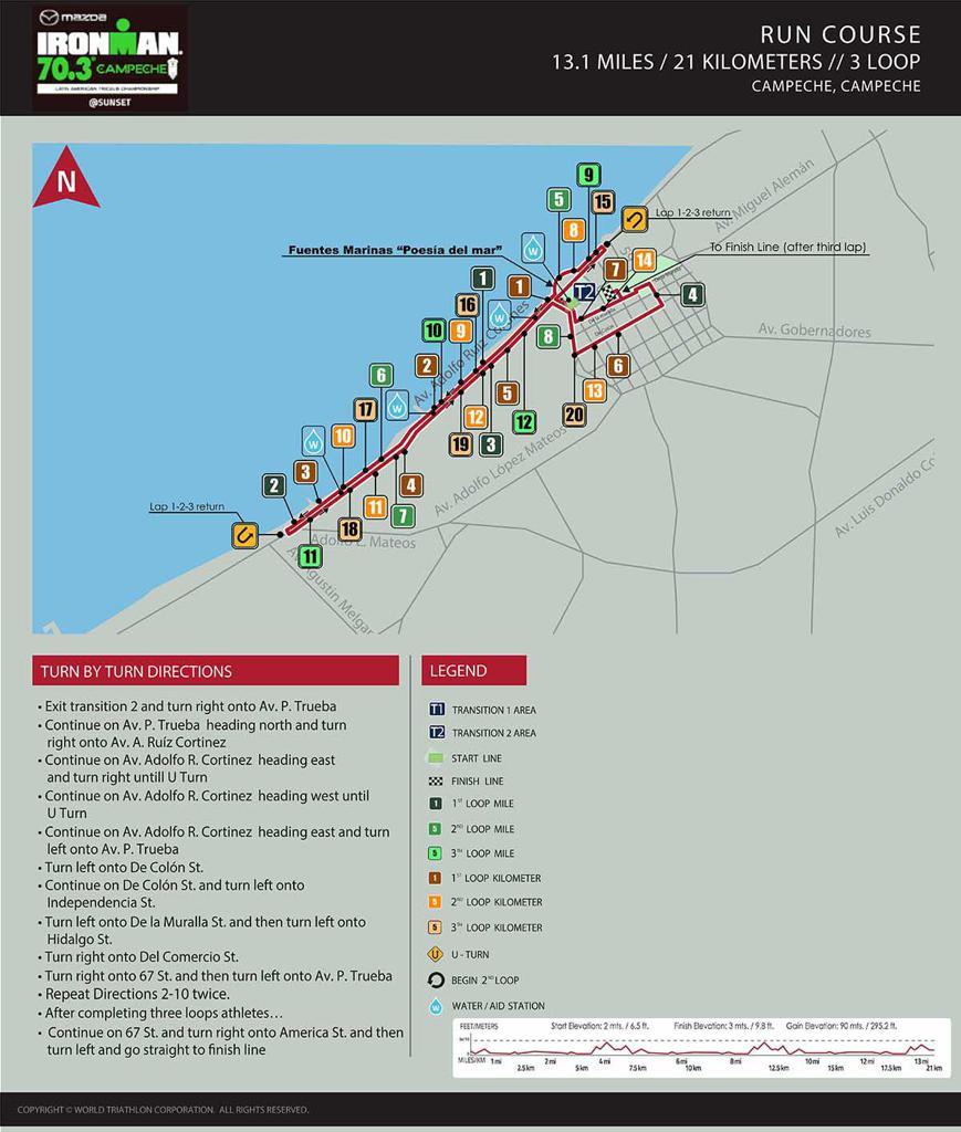 Run course map IM703 Campeche