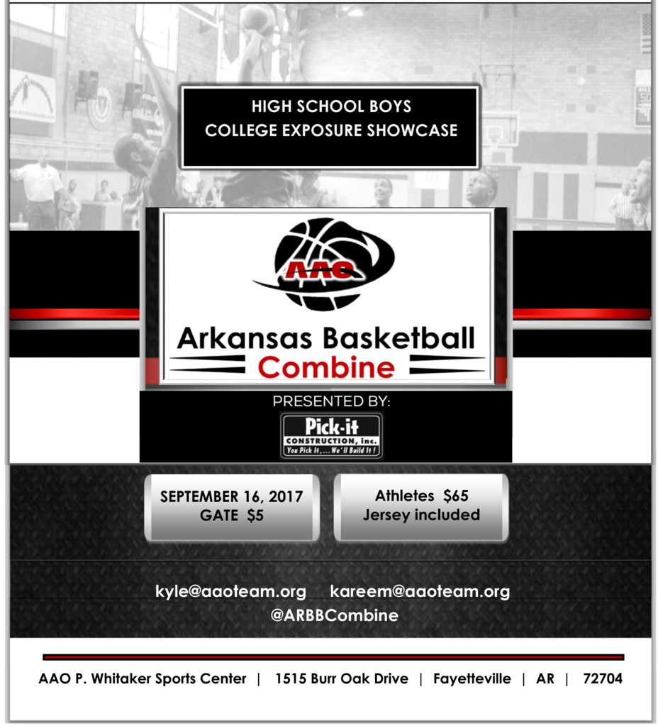 The Combine September 16, 2017 Basketball Showcase for High School Boys