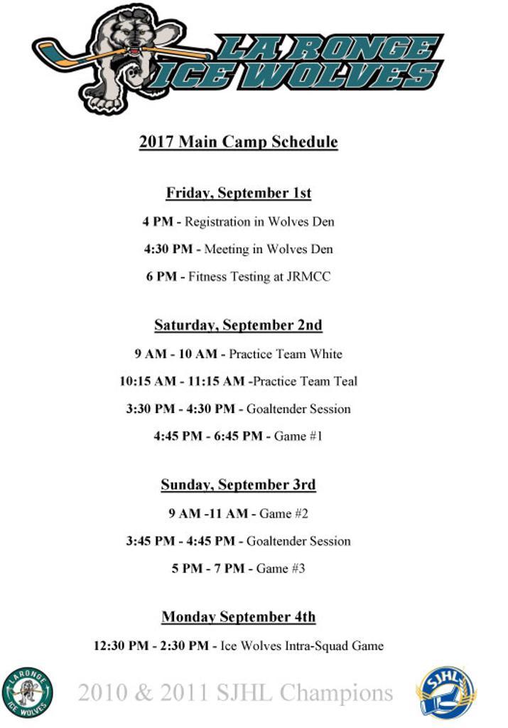 Main Schedule