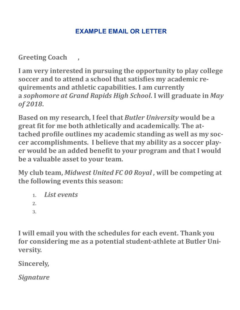 sample letter to college coaches for recruiting writing a letter to coaches 24637 | Example College letter large
