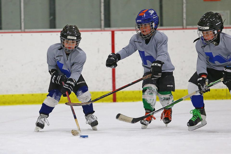 Try Hockey for Free started 10 years ago with one rink. This year, the program has 850 host sites and more than 26,000 participants. Photo by Cheryl A. Myers, @cherylamyers