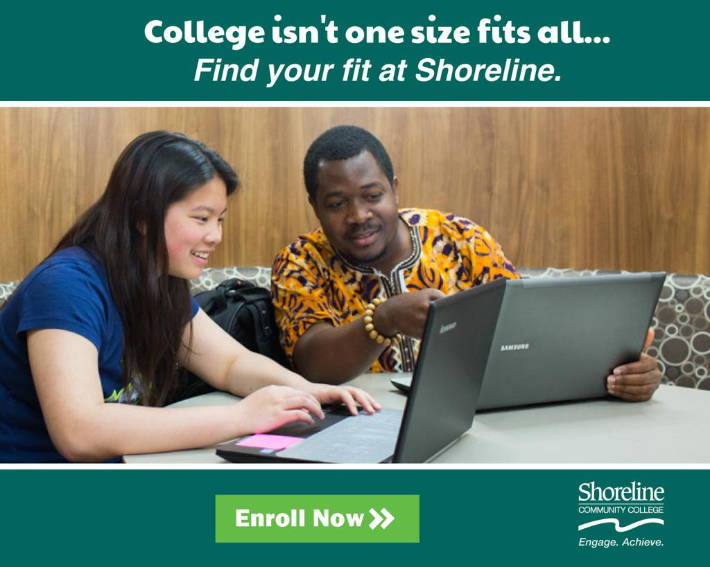 Thank you to our sponsor, Shoreline Community College!