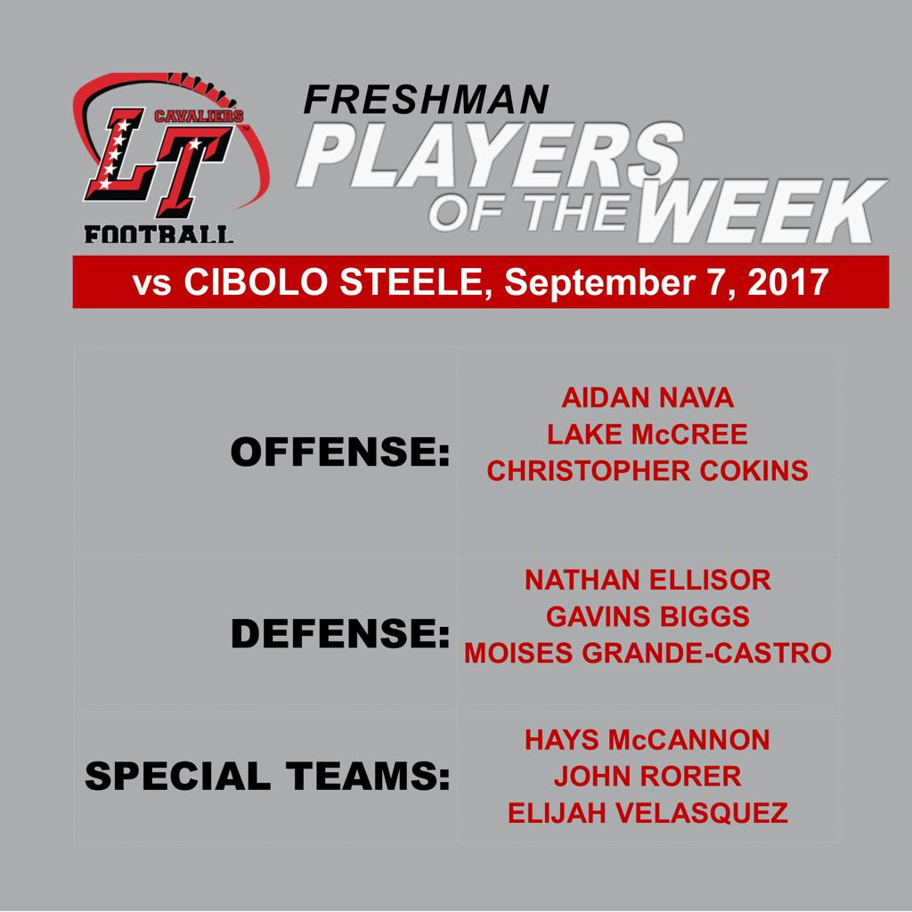 Players of the Week vs Cibolo Steele