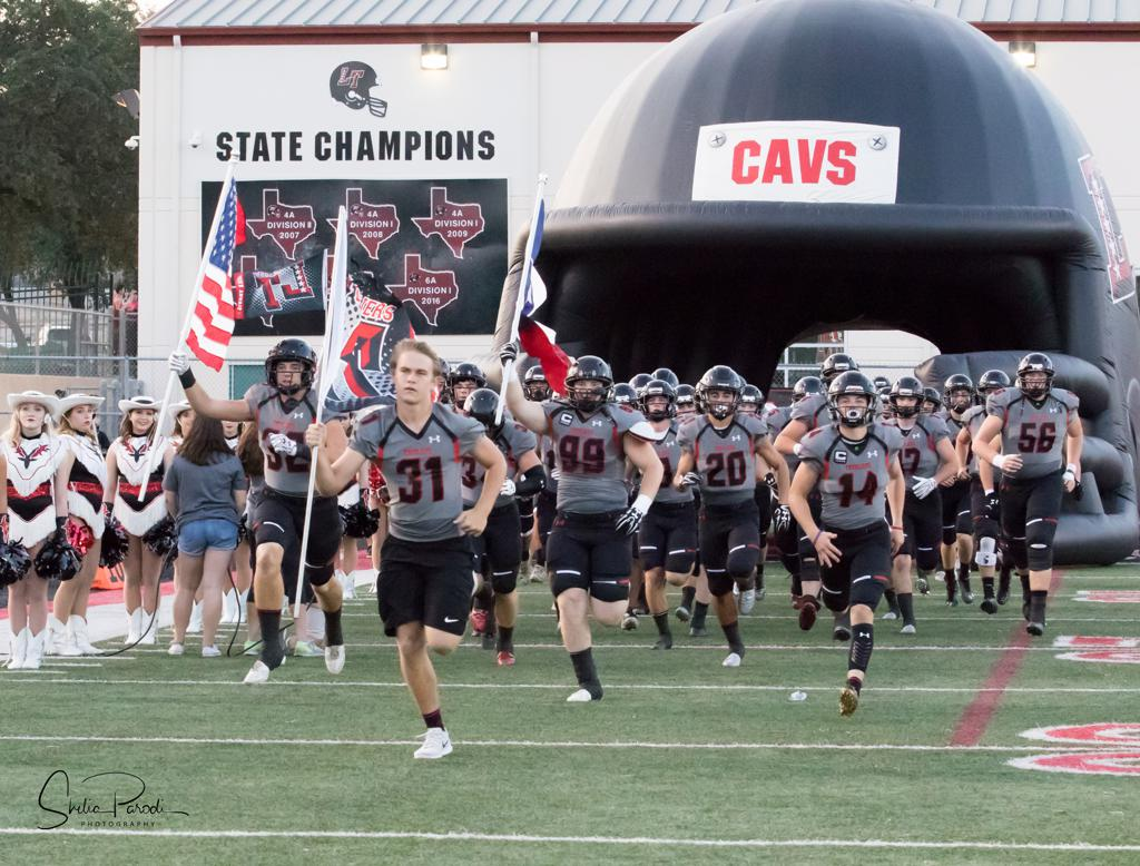 JUSTIN PLATT Lake Travis Football Honorary Flag Leader