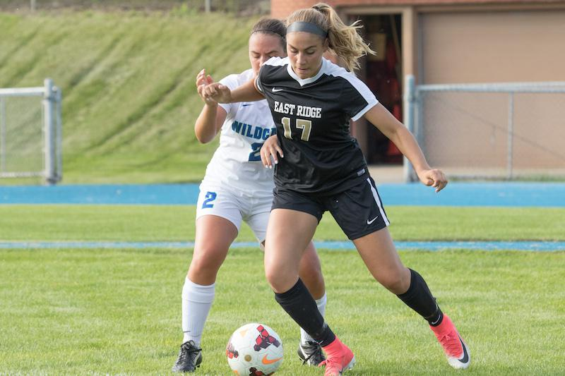 Linnea Yacovella and East Ridge will look to take over as the Suburban East's top team with a win against White Bear Lake on Sept. 20. Photo by Jeff Lawler, SportsEngine