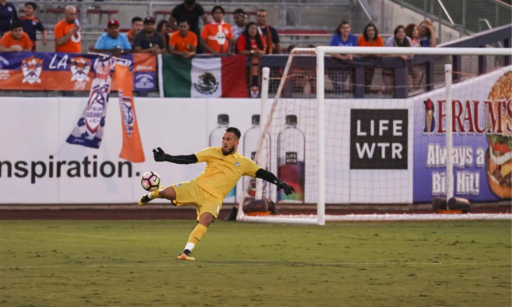 TRFC Goalkeeper Fabian Cerda earned his first selection to the USL Team of the Week following his 8th clean sheet of the season. (Photo by Matthew Christensen)