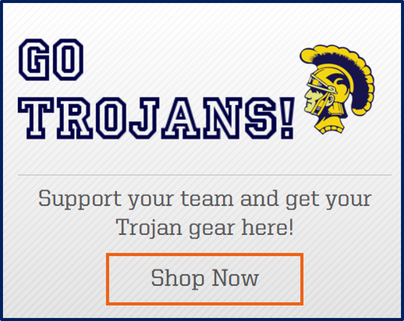 go trojans team shop advertisements