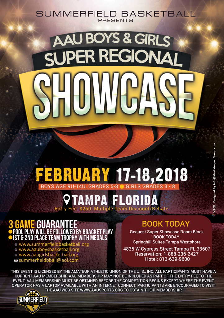 ENTRY DEADLINE FEBRUARY 10 2018 3 GAME GUARANTEE 1st 2nd Place Team Trophy With Medals EVENT HOTELS Request Super Showcase Room Block