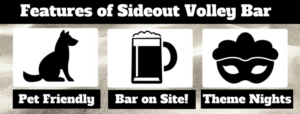 Houston Sand Volleyball Sideout Volley Bar Features