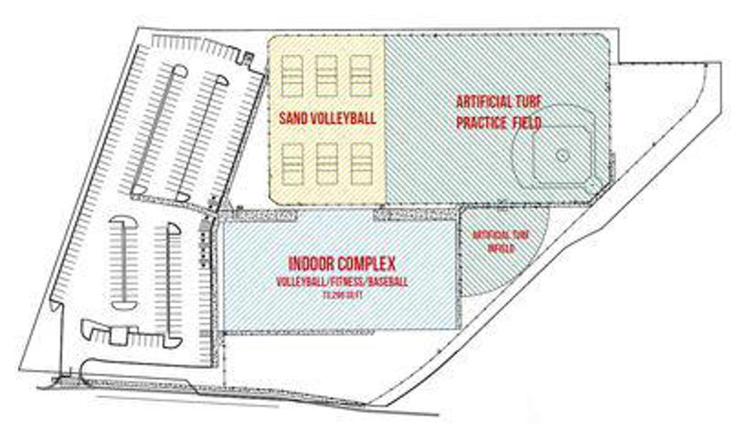 Field House facility map showing location of courts and fields