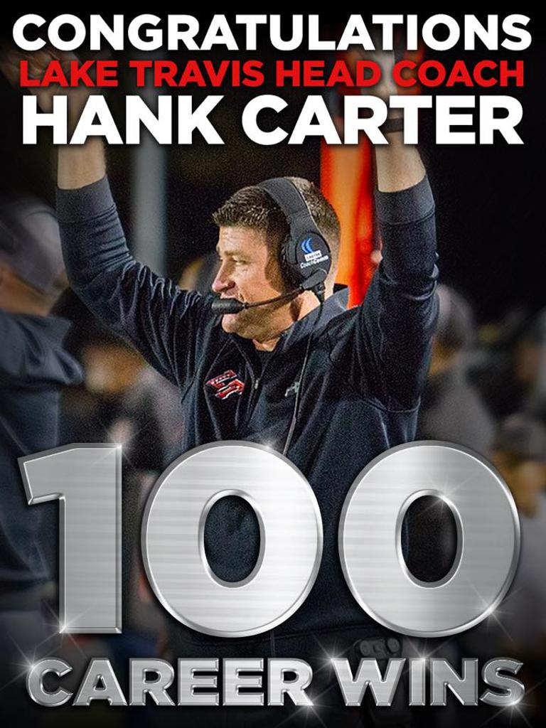 Hank Carter earned his 100th win as Head Coach
