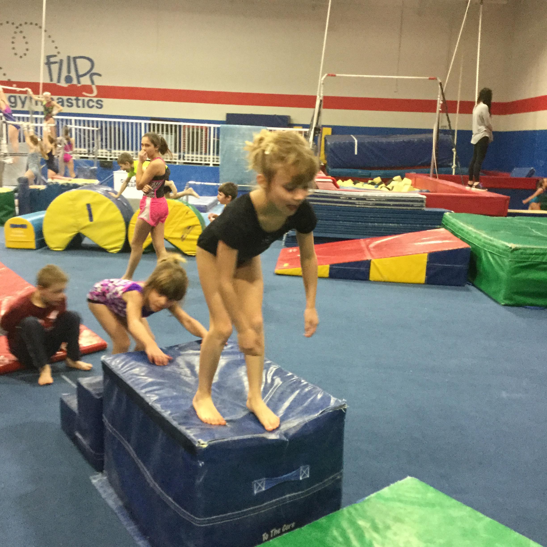flips gymnastics Jumping into air