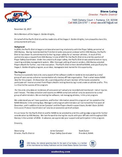 Pilot Program Letter