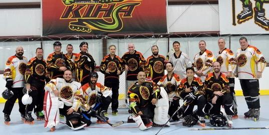 Musketeers squeaked by Conquistadors 5 to 4 to win the championship game in the )35 Div!  Congrats boys