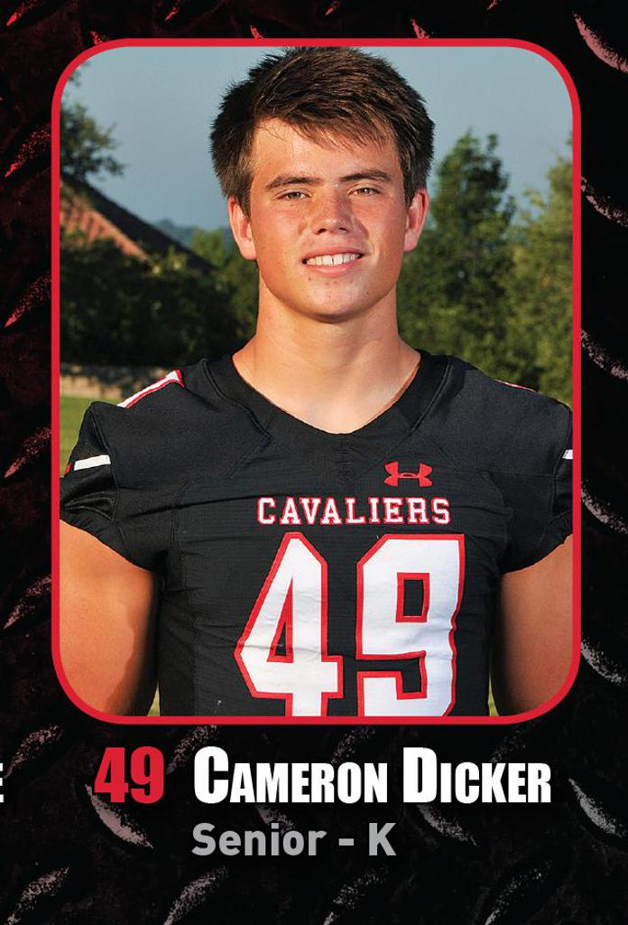 Playoff Game 4 vs O'Connor - Special Teams Player of the Week CAMERON DICKER