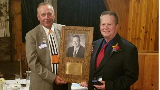 CYHA President Bob Normand is inducted into the Wisconsin Hokcey Hall of Fame