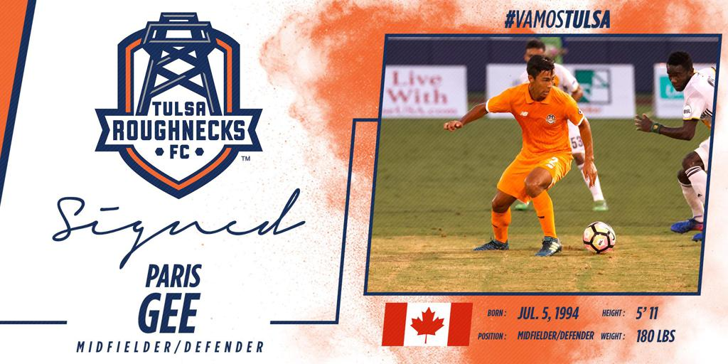 The Roughnecks announced today that the club had re-signed Paris Gee to a contract for the 2018 season, pending league and federation approval.