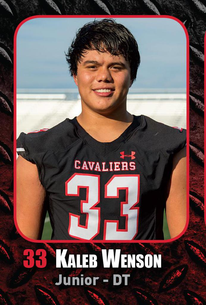 Semi-Final Playoff Game vs Katy HS -Defensive Player of the Week Kaleb Wenson