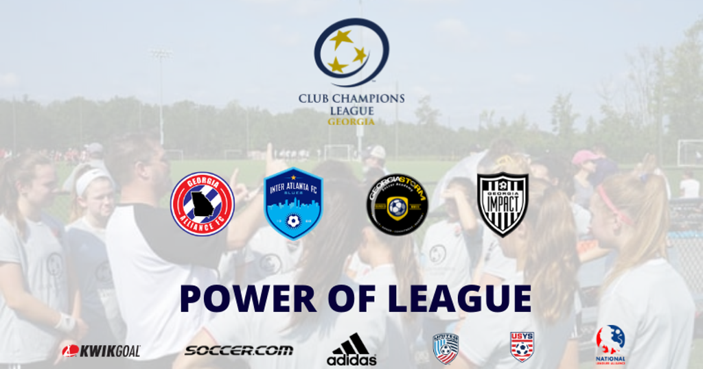 Power of League photo with CCL Georgia's clubs included along with sponsor logos