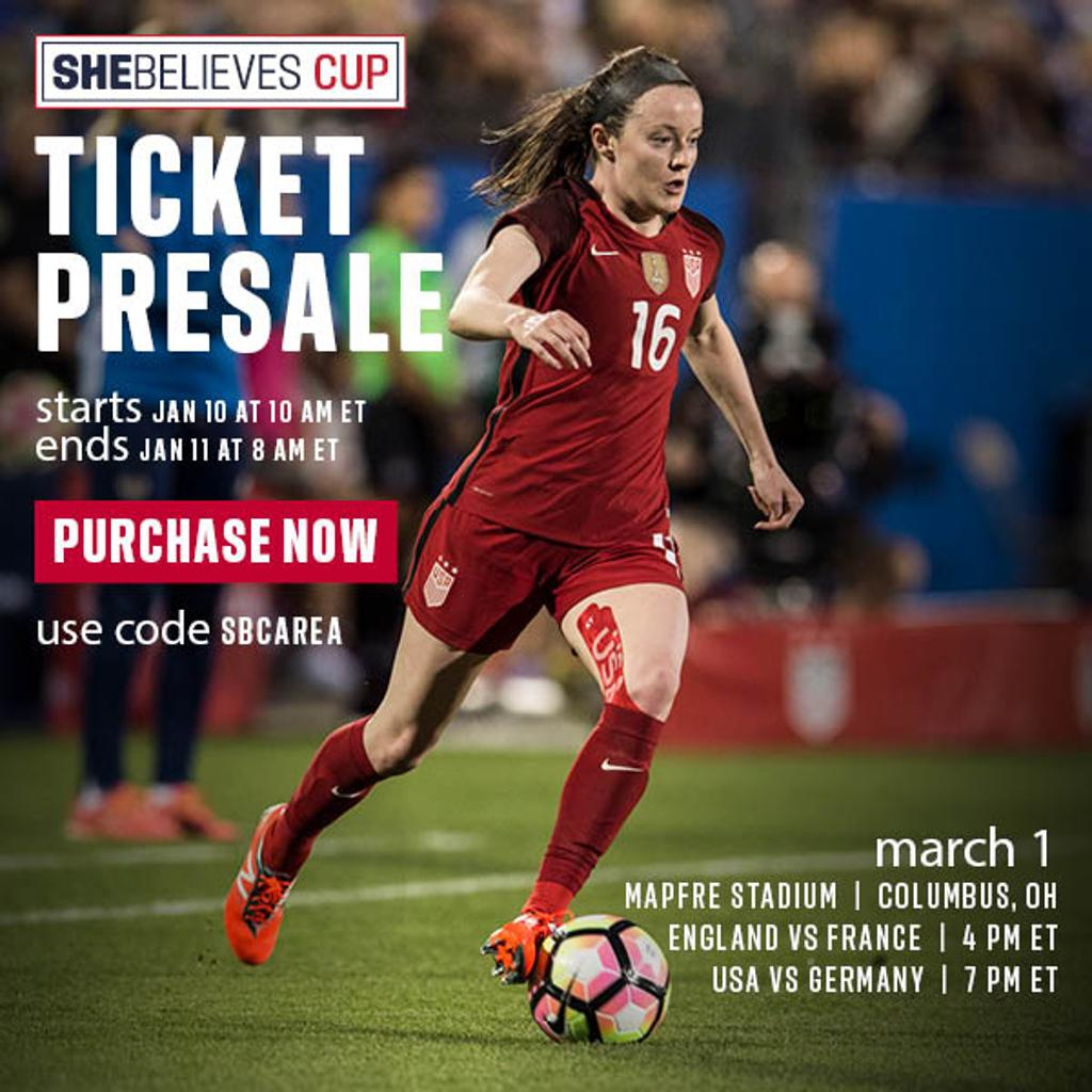 Image of SHEBelieves Cup Presale Poster