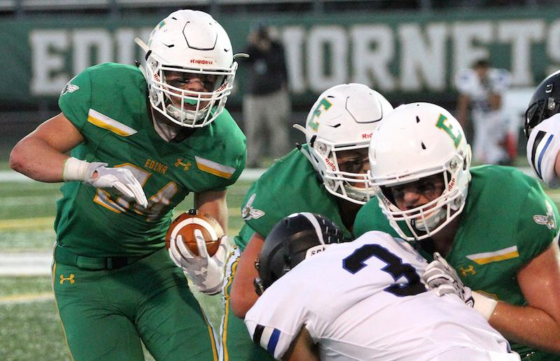 Edina has lost its last five games against Eden Prairie, but a stalwart defense will aim to slow a surging Eagles offense in Wednesday's regular-season finale. Photo by Drew Herron, SportsEngine