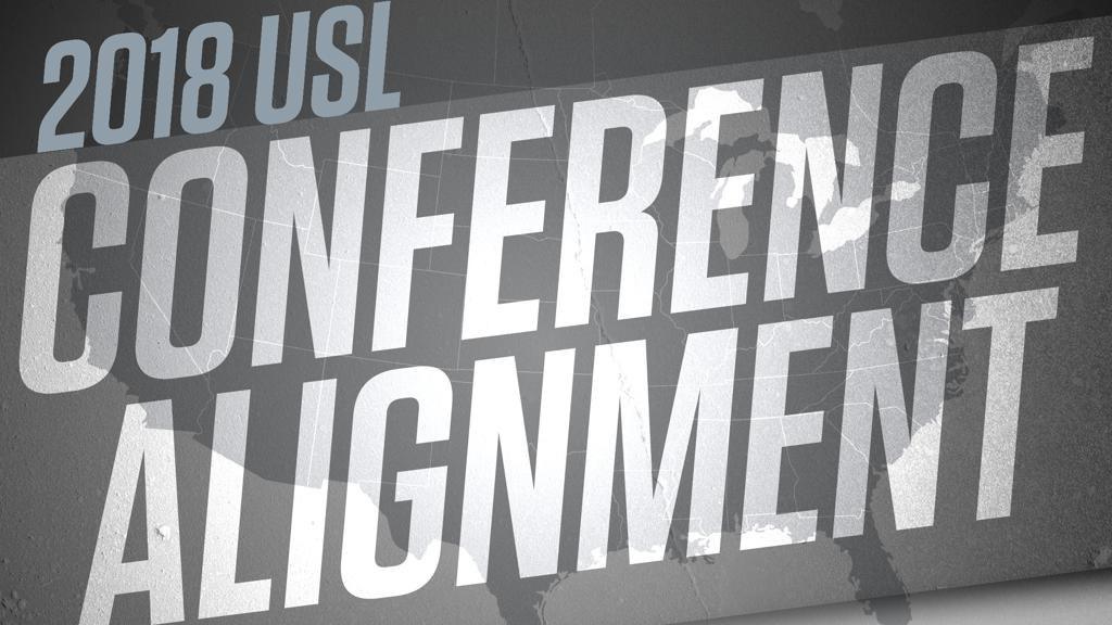 USL conference alignment in bold type