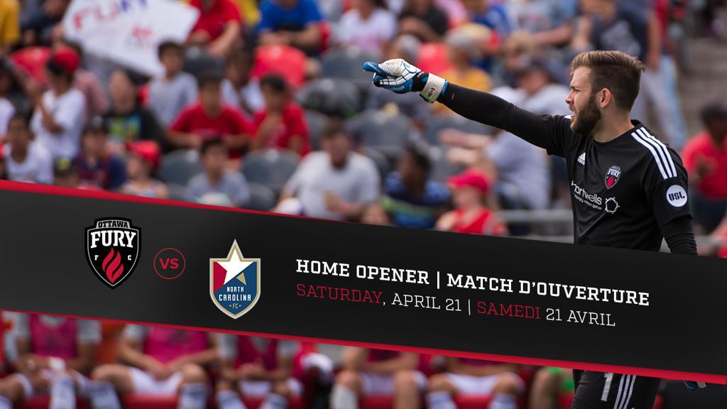 2018 home opener set for April 21 versus North Carolina FC