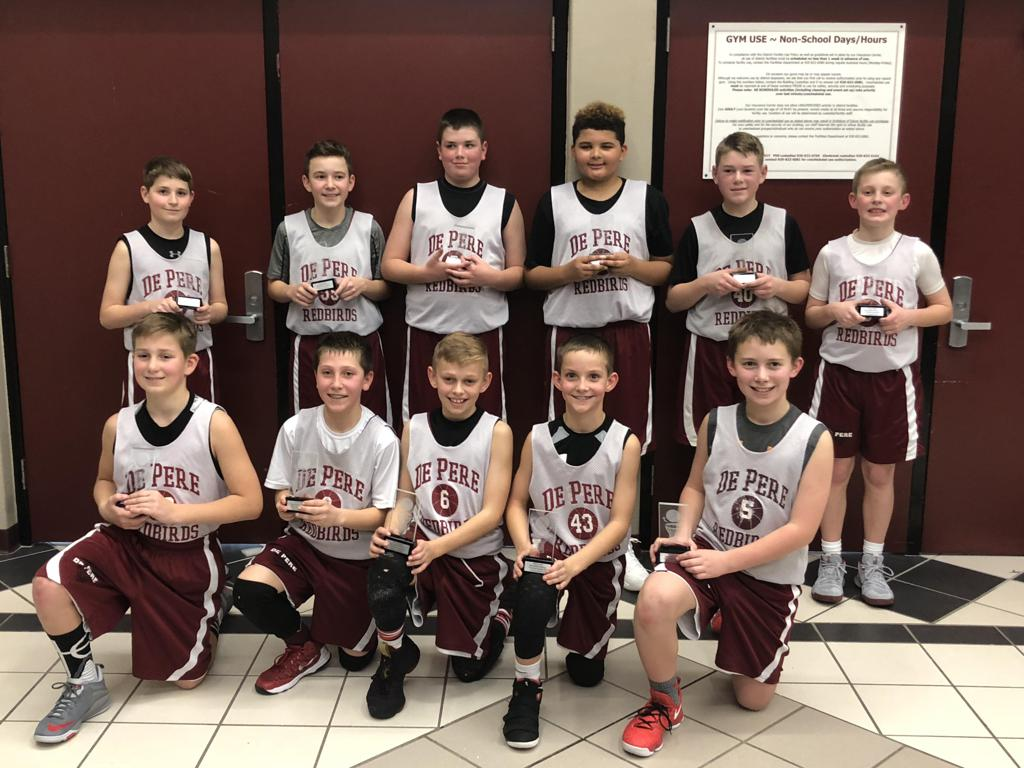 The Boys 6th Grade White Team Took 1st Place At Pulaski Tournament January 13th