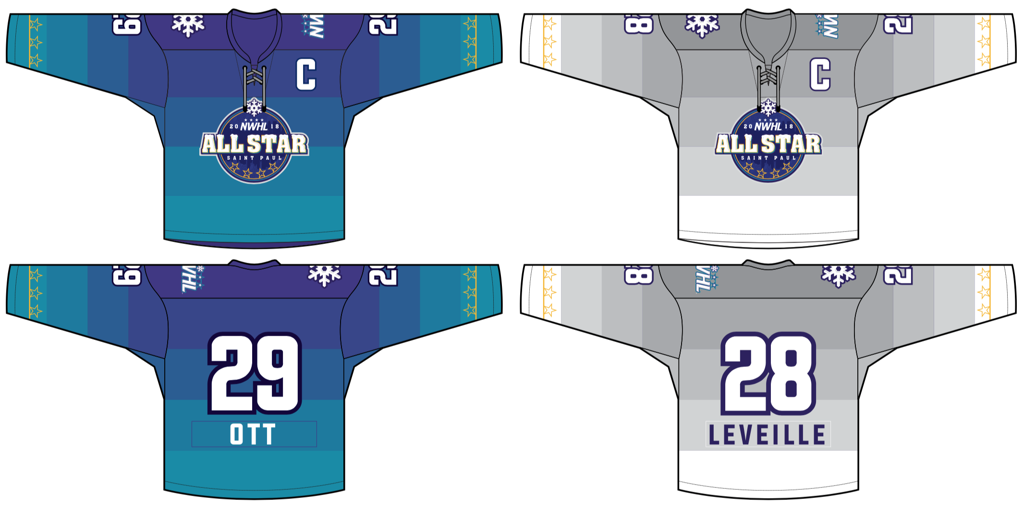 JERSEYS UNVEILED FOR 2018 NWHL ALL-STAR GAME IN SAINT PAUL ... b93fe137623