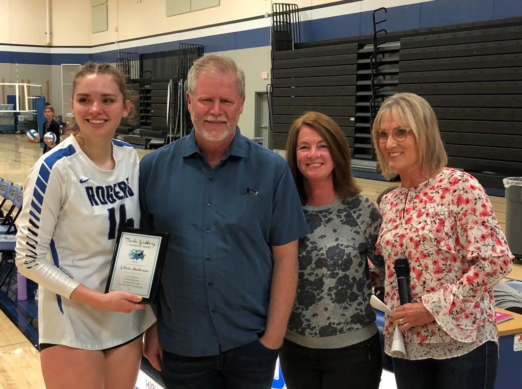 Olivia Anderson Darla Westberg Teammate Award