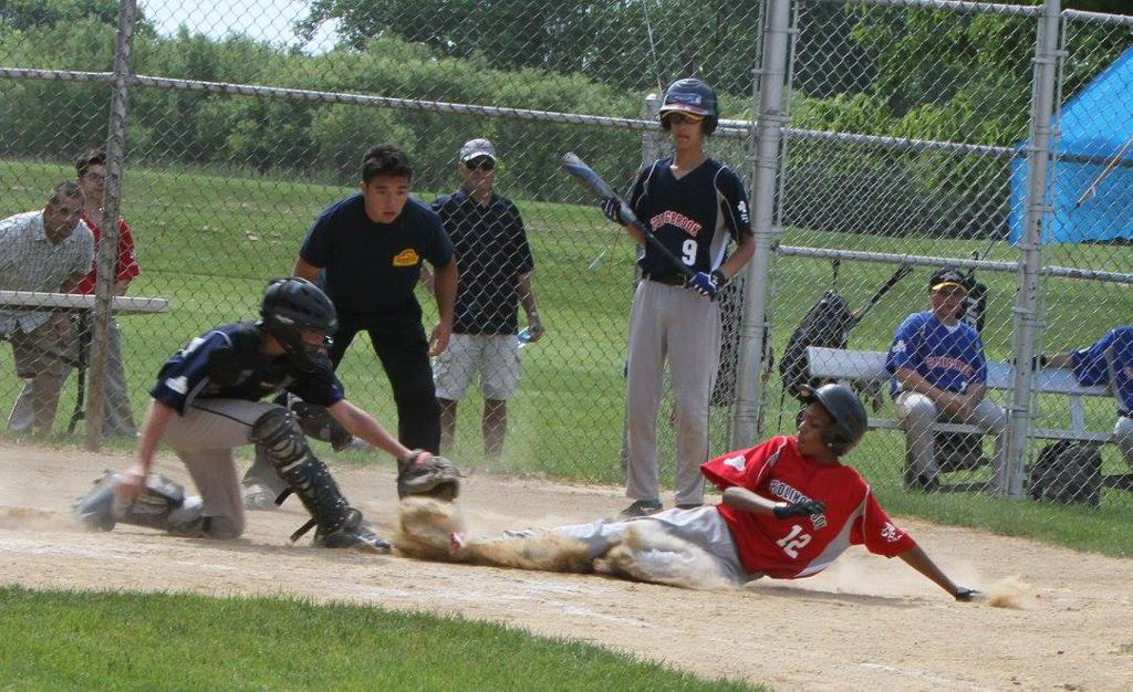 A play at home plate