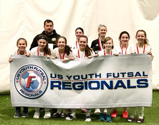 2004 girls win futsal regionals and head to Nationals!