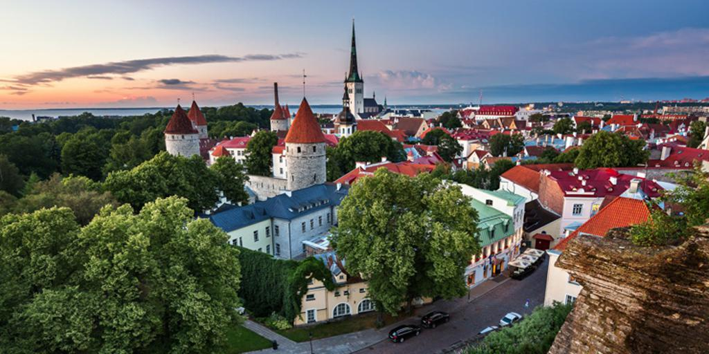 A view of the city of Tallinn