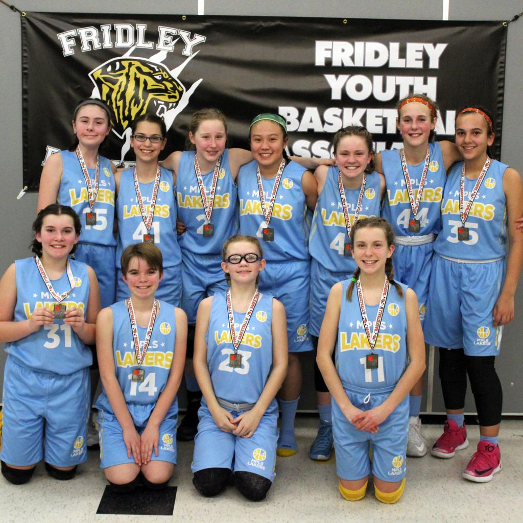 Girls 7th Grade Blue Take 2nd Place at Fridley