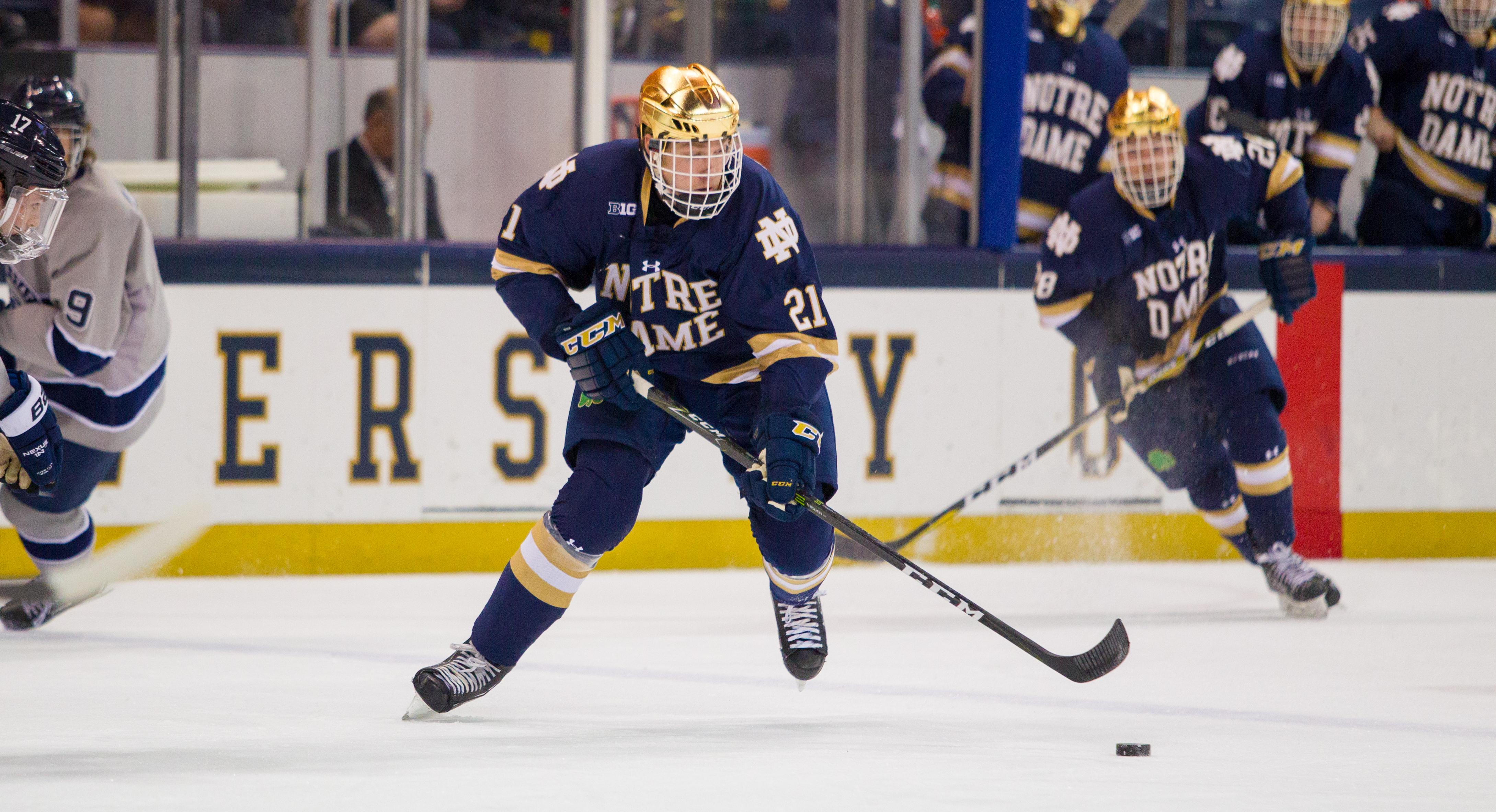 Joe Wegwerth with the University of Notre Dame (photo courtesy of Fighting Irish Media)