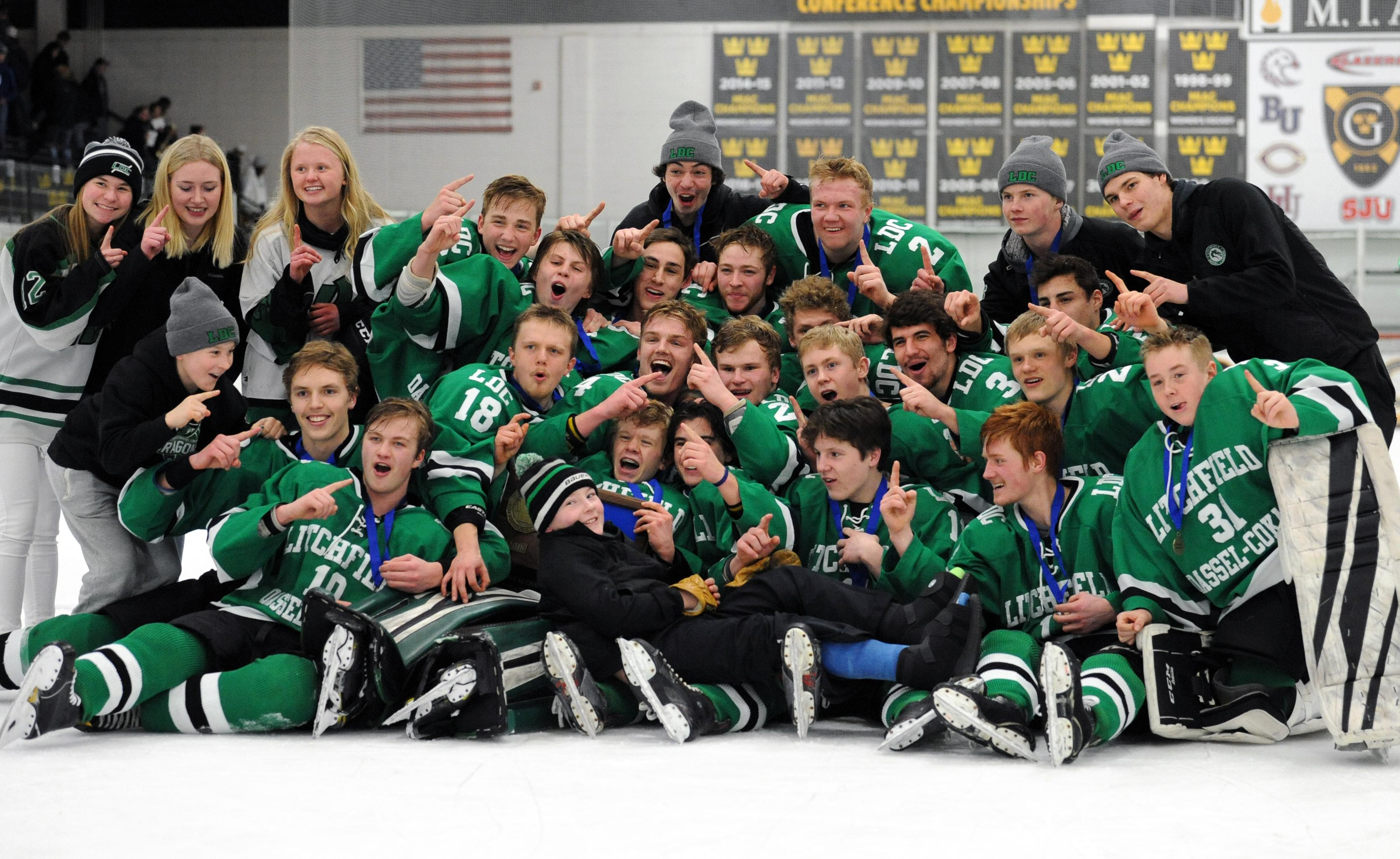 MN H.S.: Litchfield/Dassel-Cokato Nets Three Third-period Goals To Claim Section Crown Over Luverne
