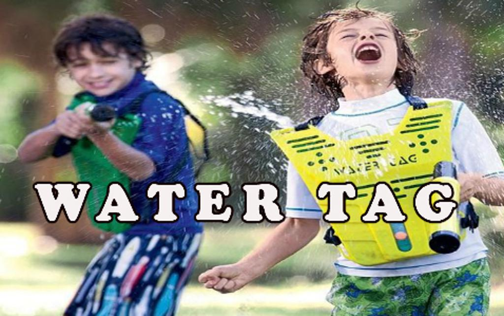 This fun-filled tag game is a total blast for serious backyard water warriors! Competitors each strap on a Water Tag vest and gear up to elevate water battles to a new level. The rules are pretty simple: Blast your opponent to fill the water gauge on the