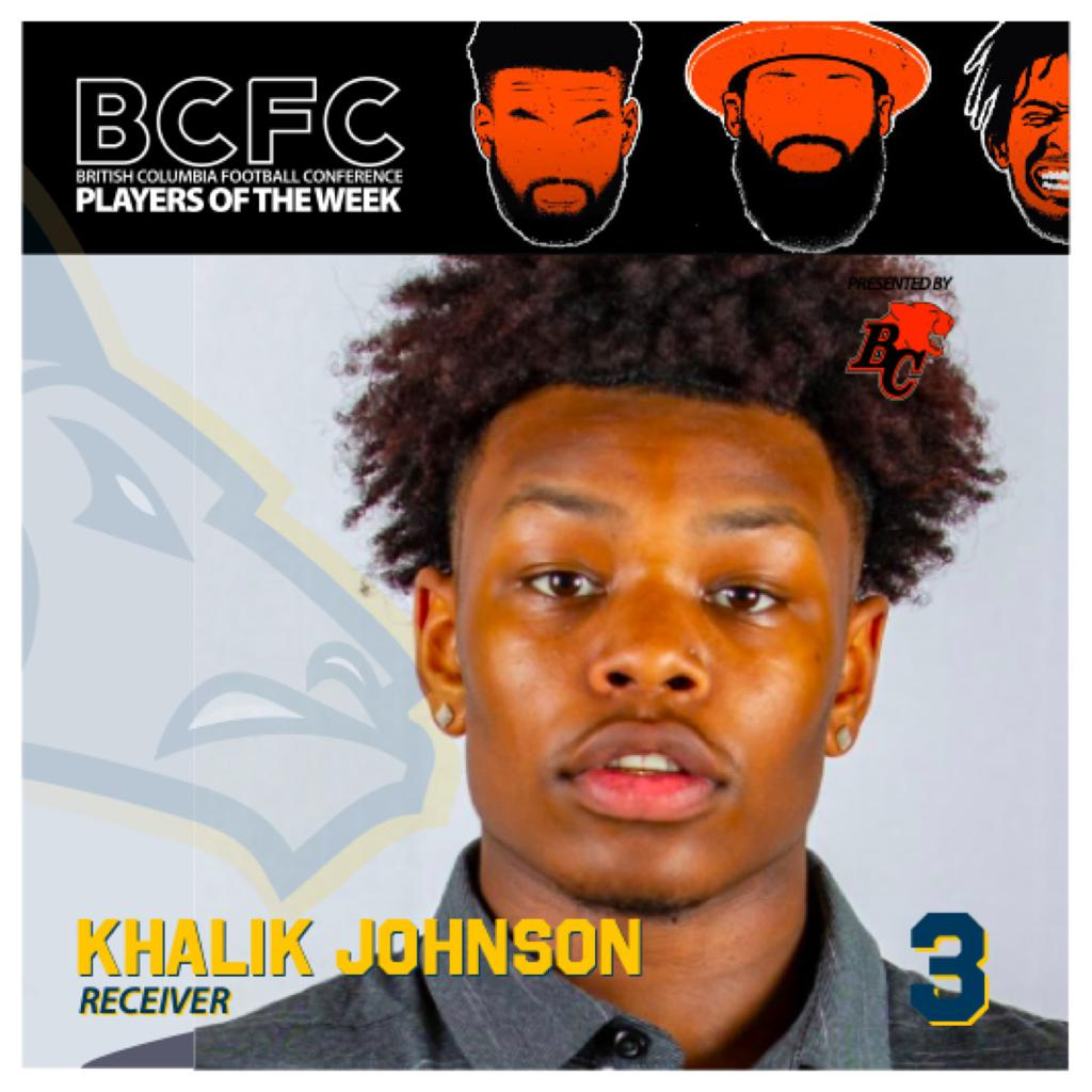 WEEK 1: BCFC Offensive Player Of The Week - Khalik Johnson, Receiver Langley Rams