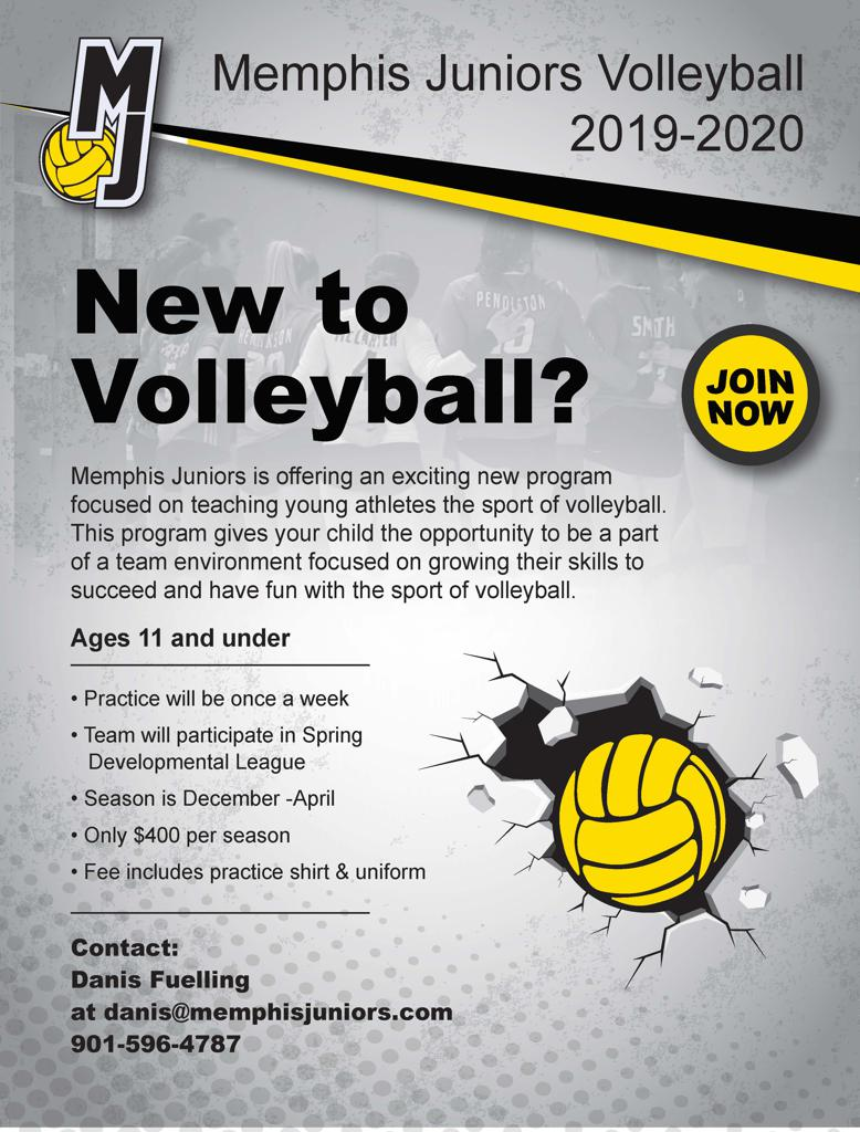 SIgn up now for youth voleyball training at Memphis Juniors