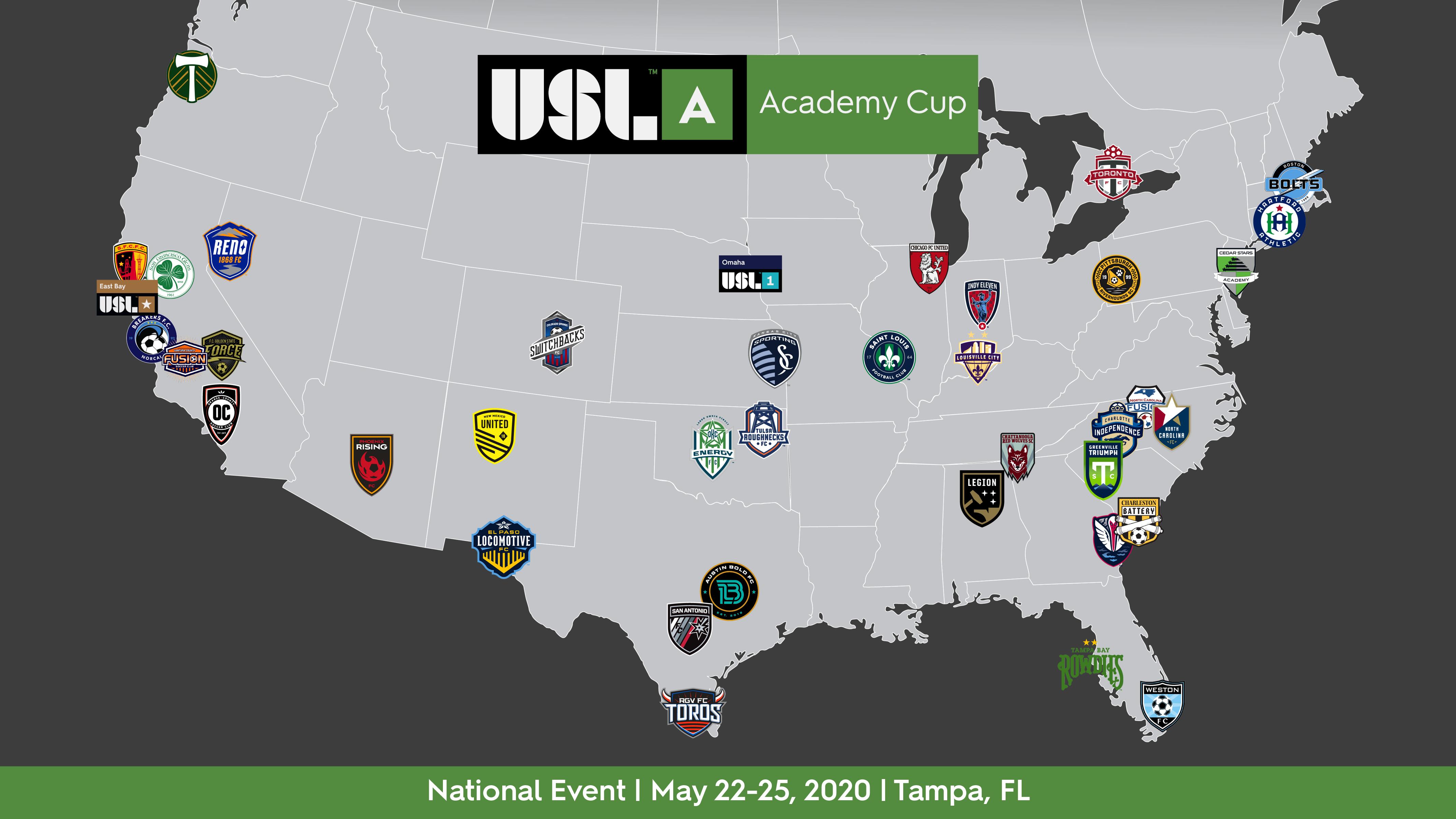 USL Academy Cup Teams
