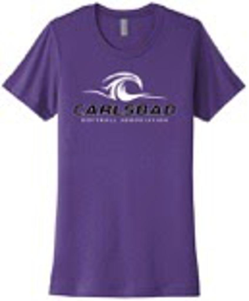 Women's Next Level Cotton Crew Purple Image
