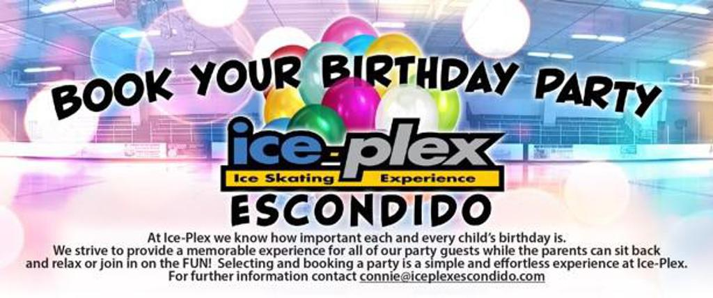 Celebrate your Birthday at Ice-Plex!