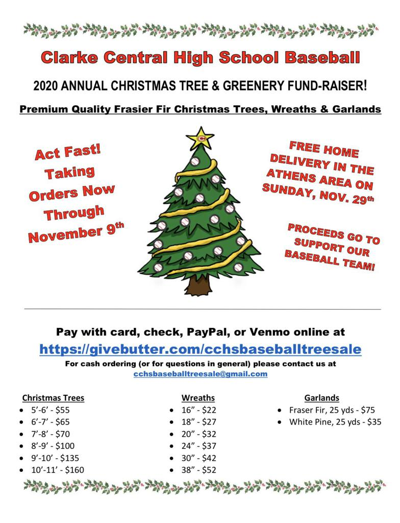 Gladiator Baseball Christmas Tree Fundraiser Info